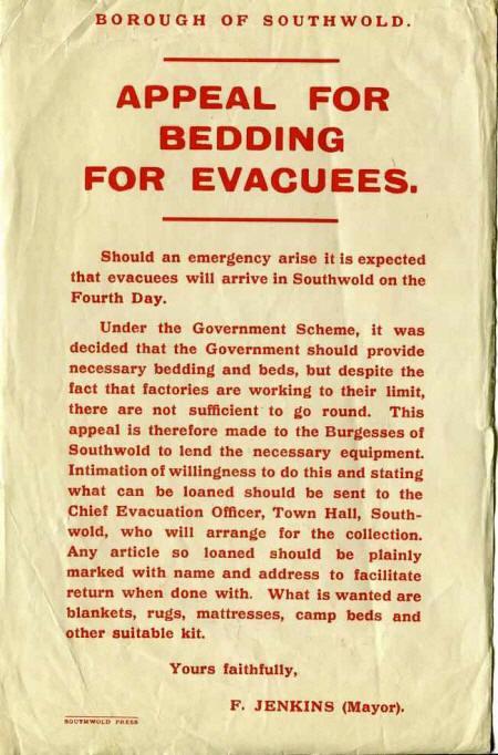 Old Lowestoft Evacuation Scheme