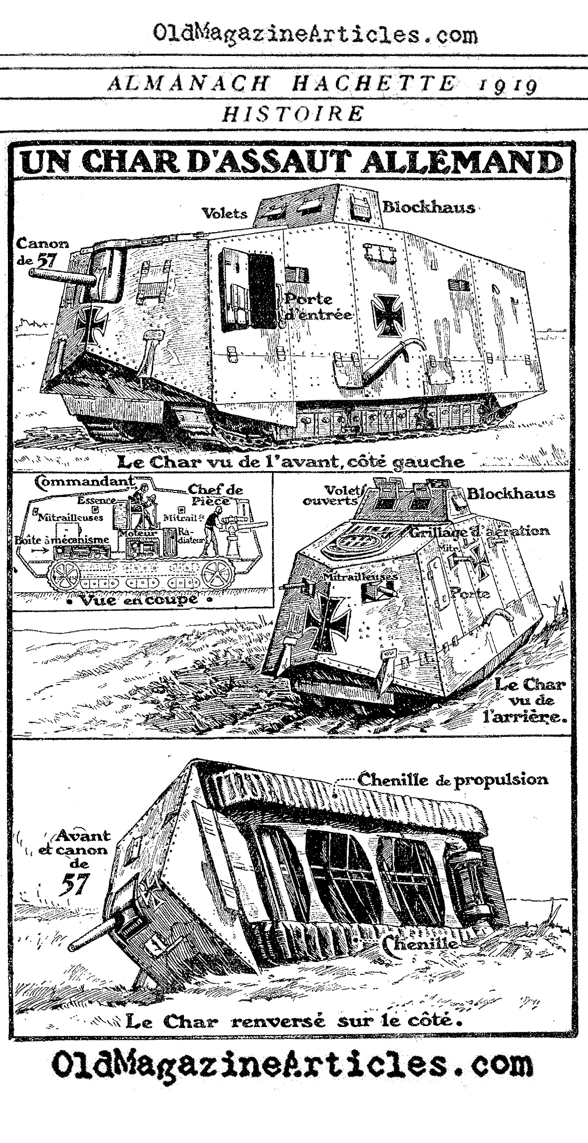 ww1 trench system diagram wiring 2 pin flasher unit german a7v tank 1918 armor