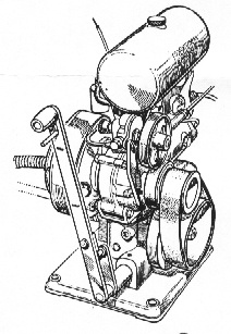 Old Marine Engine: British Anzani inboard marine engine
