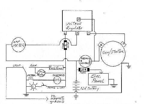 Old Marine Engine: Starter/Generator Schematic