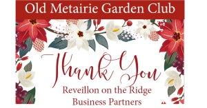 Revillion on the Ridge Thank You   Old Metairie Garden Club