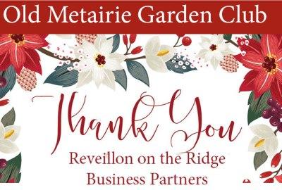 Revillion on the Ridge Thank You | Old Metairie Garden Club