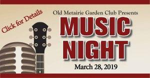 Music Night | Old Metairie Garden Club