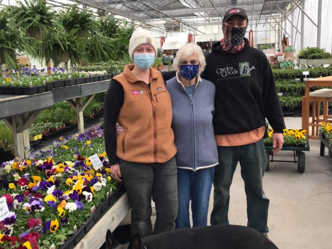 Elise Holman, Georgia Holman and Cory Holman at Garden Goods in Traverse City, Michigan   Garden Goods Photo