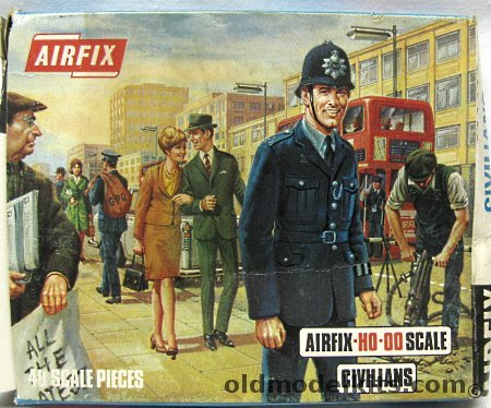 Airfix 187 HO Civilian Figures With Motorbike S6 50