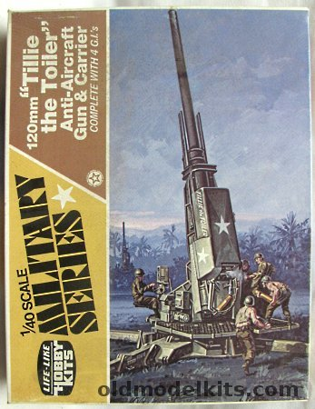 LifeLike 140 120mm AntiAircraft Gun and Carrier Tillie