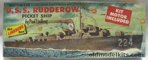 Lindberg 1300 DE 224 Rudderow Picket Ship Destroyer