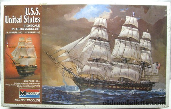Monogram 1120 USS United States Frigate  30 Inches Long