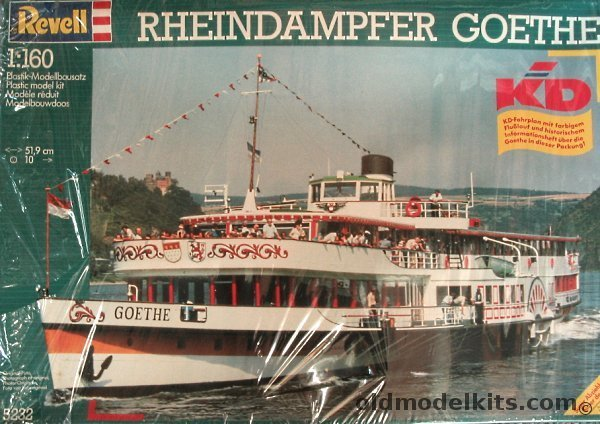 Revell 1160 Rheindampfer Goethe Excursion River Boat 5232