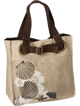Women: Women's Graphic Linen-Blend Totes - Coffee Grounds