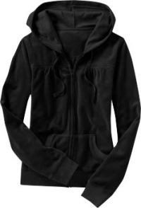 Women: Women's Velour Hoodies - Black