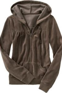 Women: Women's Velour Hoodies - Dark Chocolate