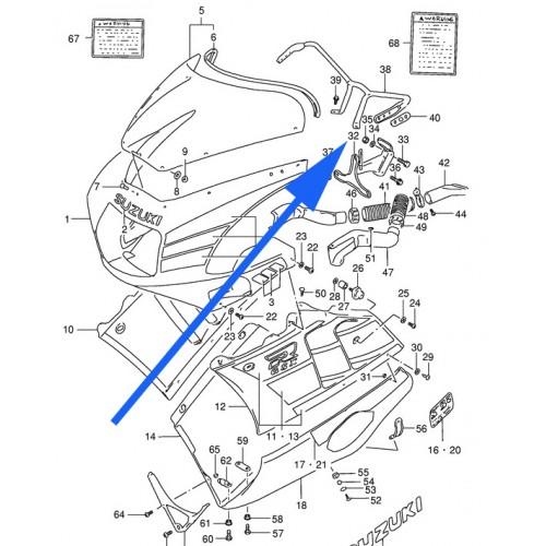 Suzuki GSX-R400 Top Cowling Brace GSXR400 Main Fairing