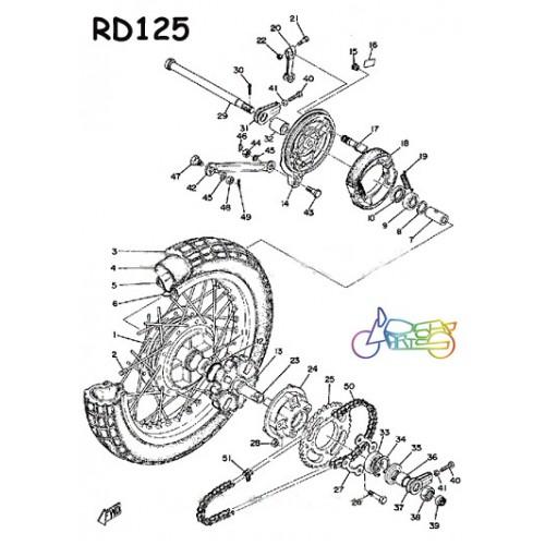 Yamaha YAS1 YAS2 YAS3 RD125 Rear Wheel O Ring NOS 93210-42101