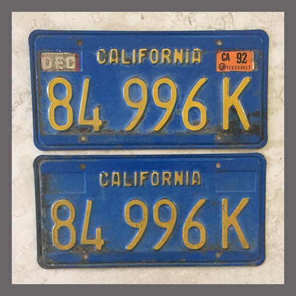 1980 California Yom Dmv Sticker Tag - Year of Clean Water