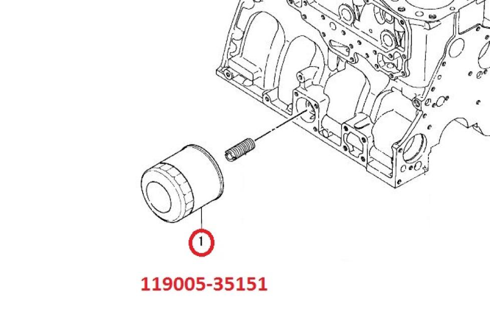 119005-35170 (Supersedes 119005-35151) Oil Filter