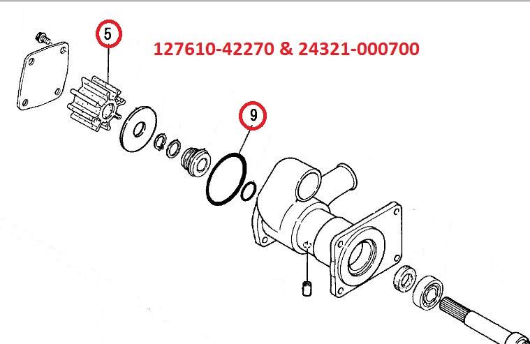 127610-42270 & 24321-000700 Impeller