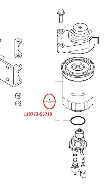 119773-55710 Fuel Filter