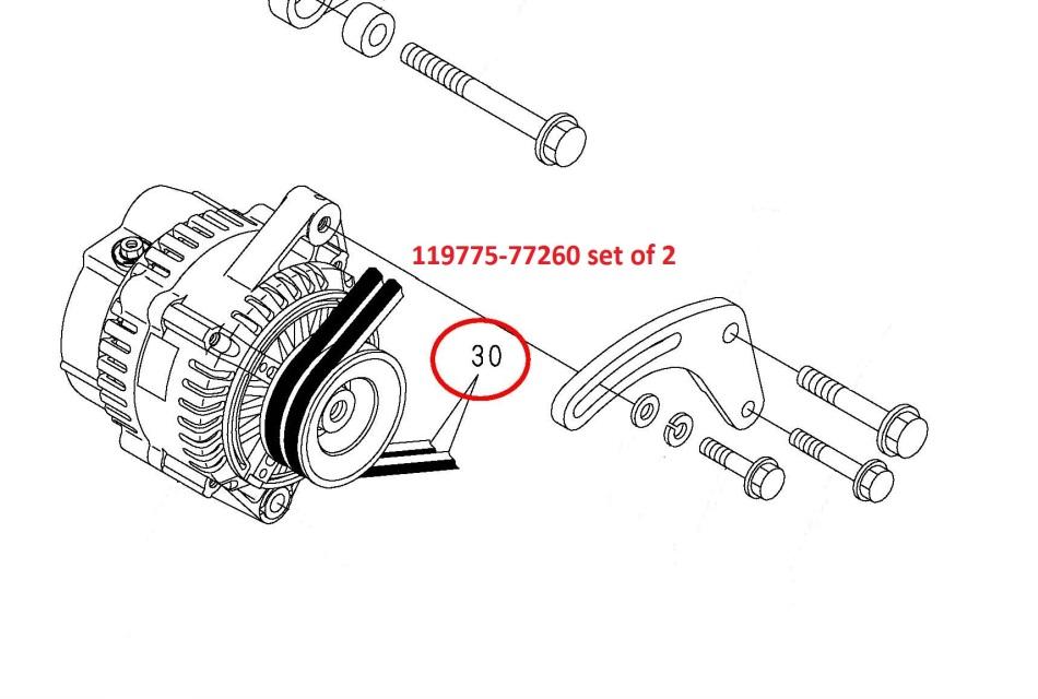 119775-77260 set of 2 Belts