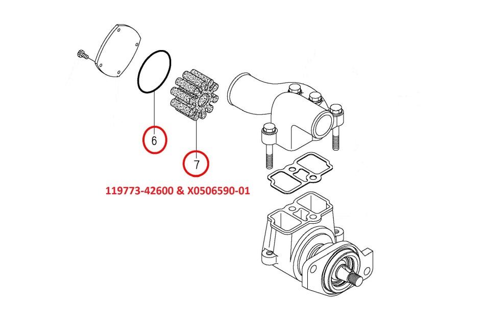119773-42600 & X0506590-01 Impeller