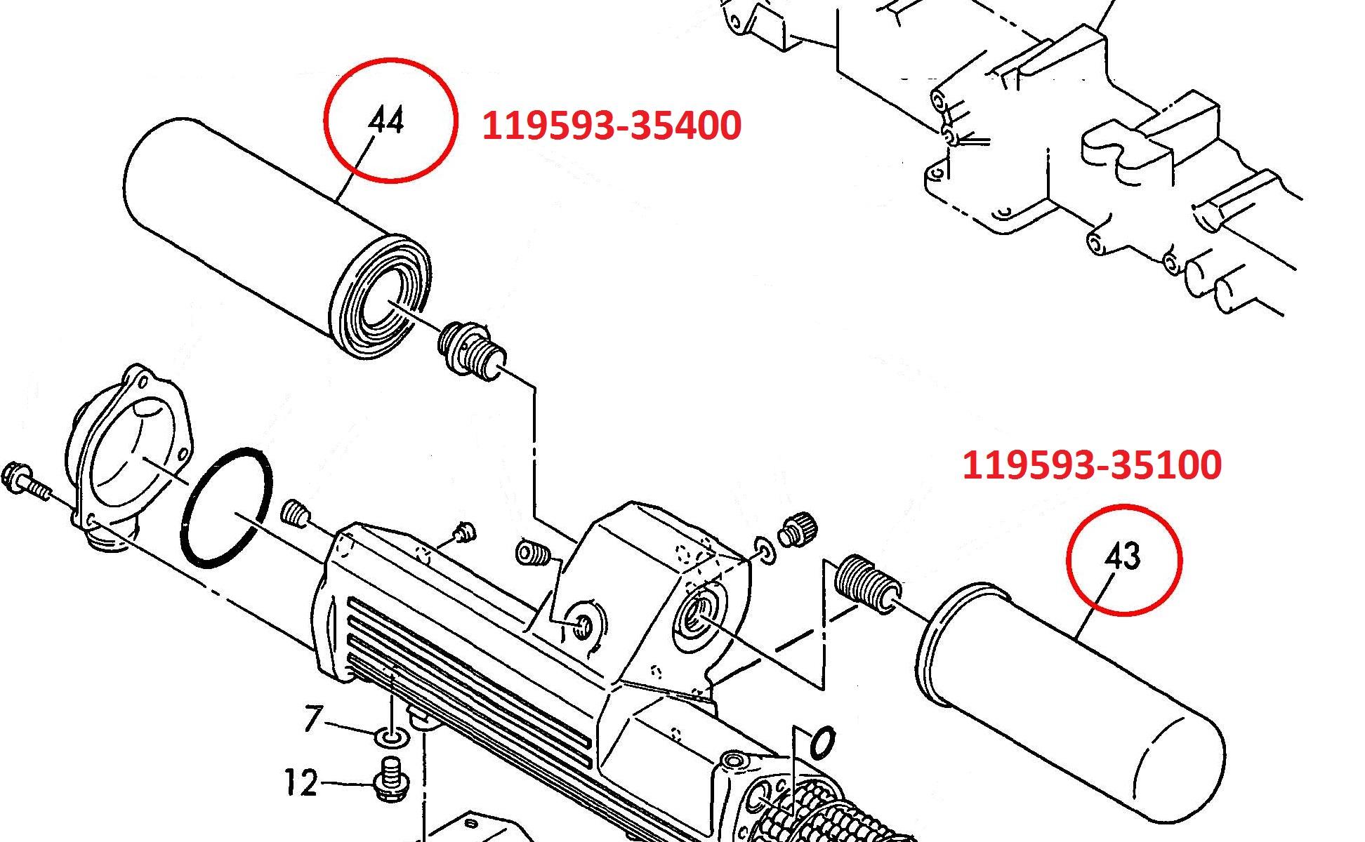 119593-35400 Bypass Oil Filter