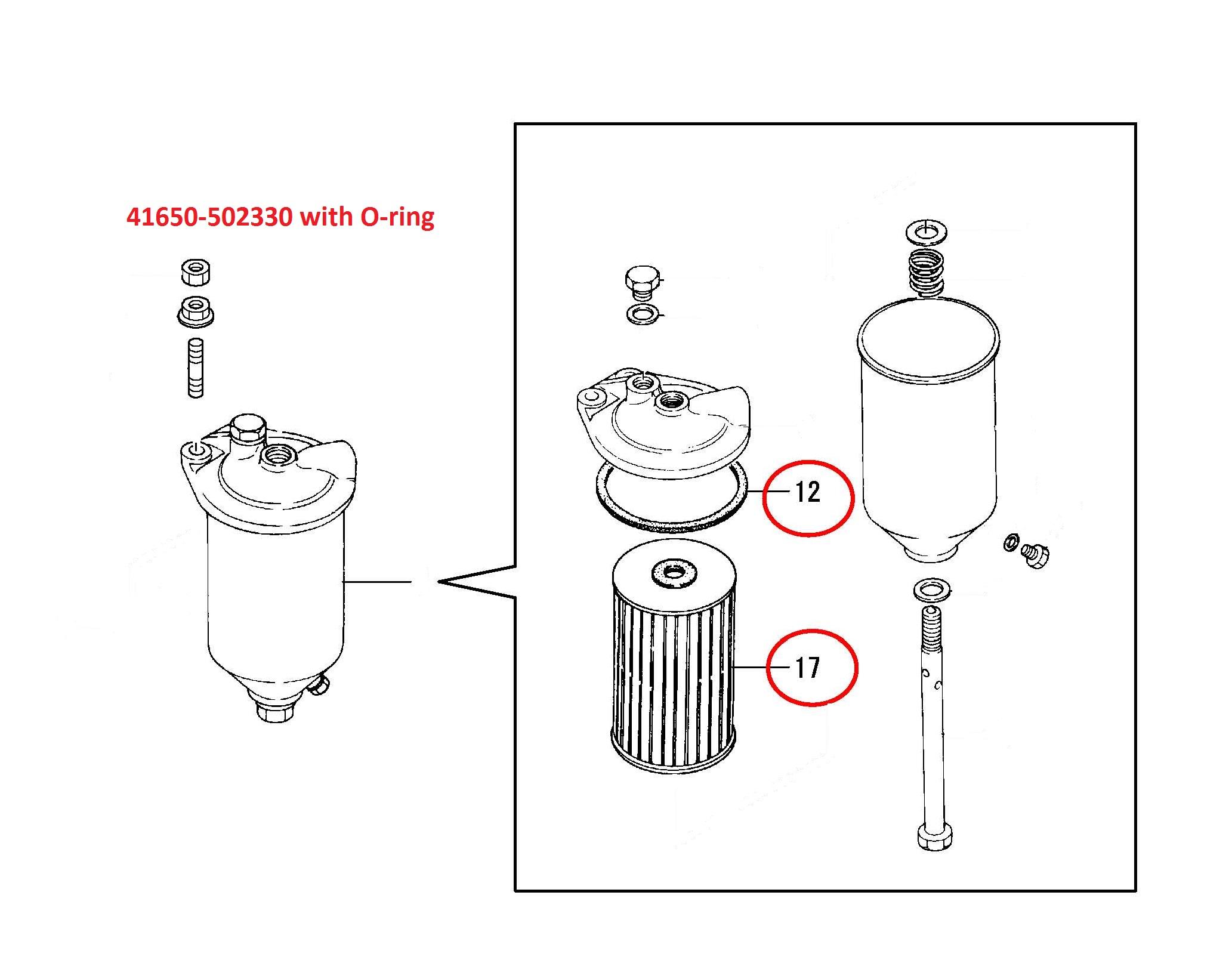 41650-502330 Fuel Filter