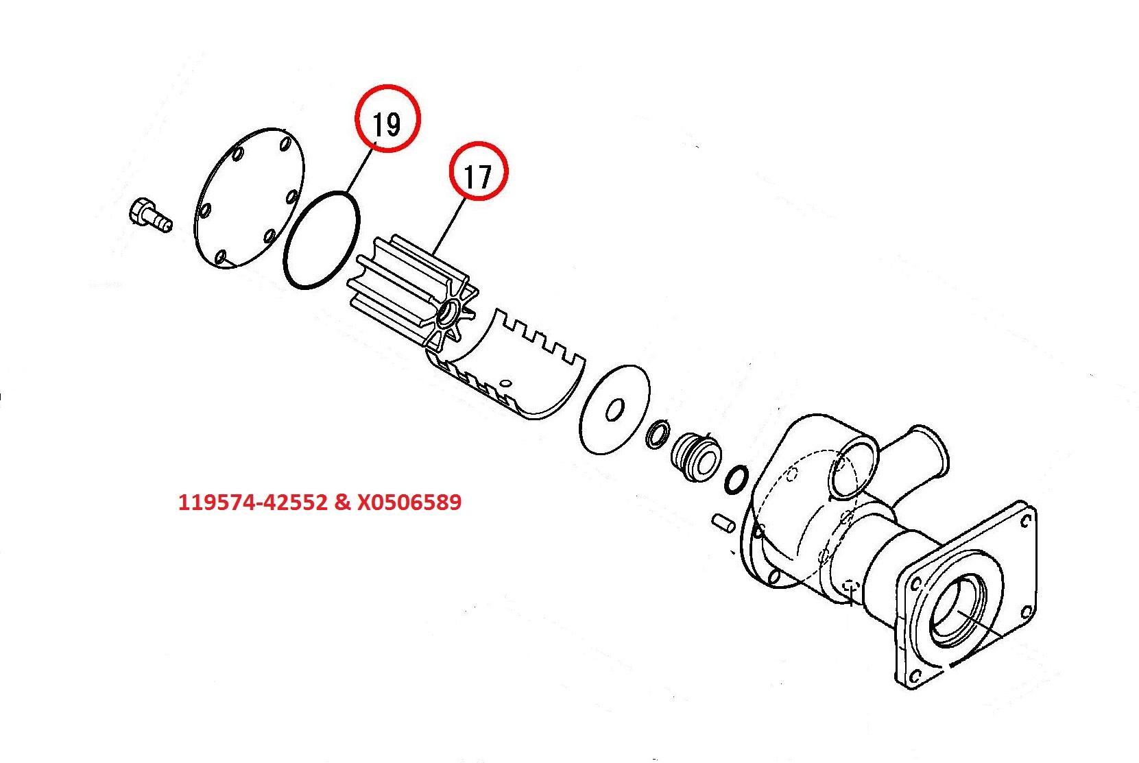 119574-42552 & X0506589 Impeller