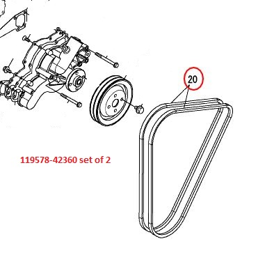 119578-42360 set of 2 Belts