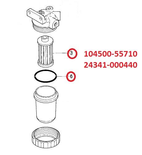 104500-55710 & 24341-000440 Fuel Filter