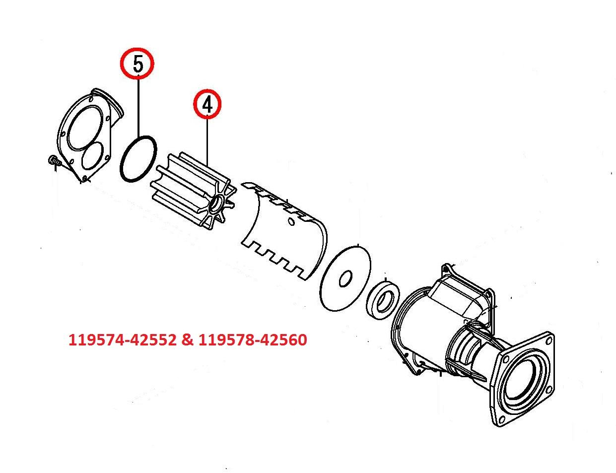 119574-42552 & 119578-42560 Impeller