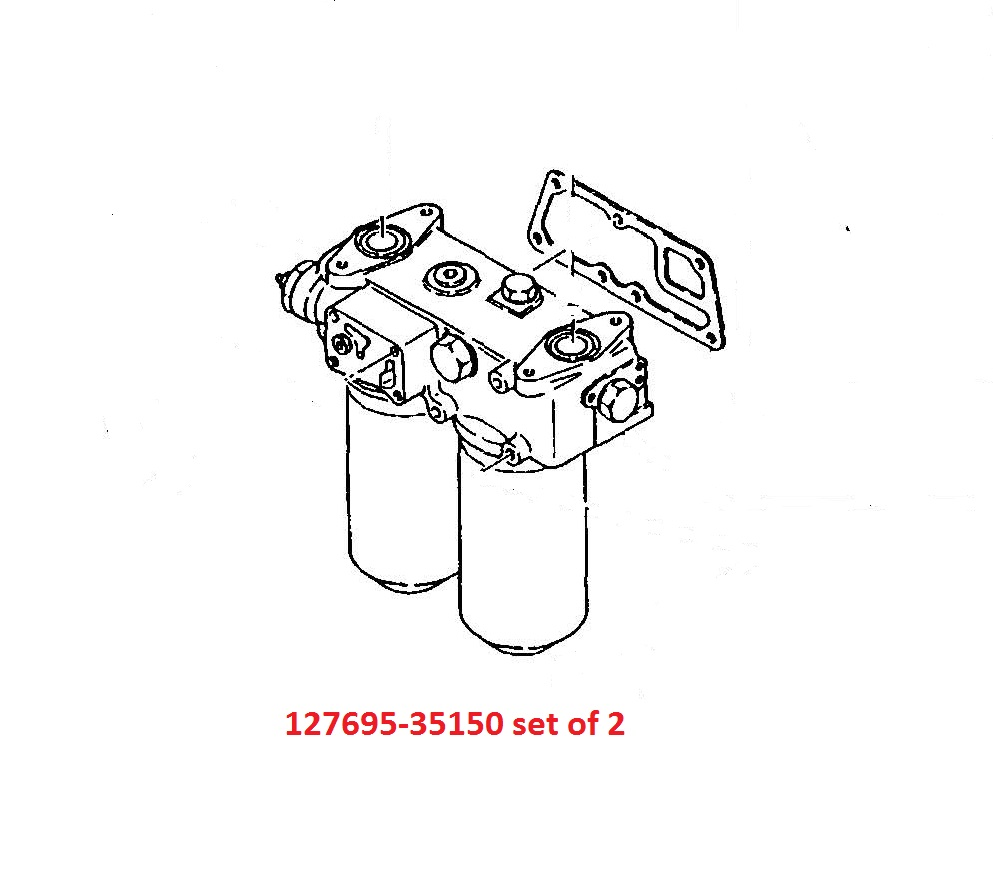 127695-35150 set of 2 Oil Filters