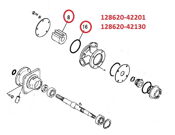 128620-42201 & 128620-42130 Impeller