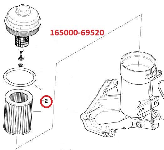 165000-69520 Oil Filter