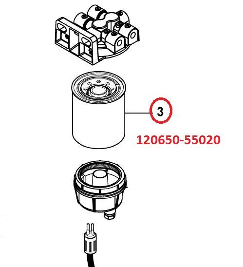 120650-55020 Fuel Filter