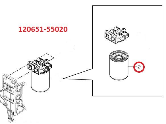 120651-55020 Fuel Filter