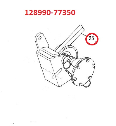 128990-77350 3YM20 up to serial #E00303 Belt