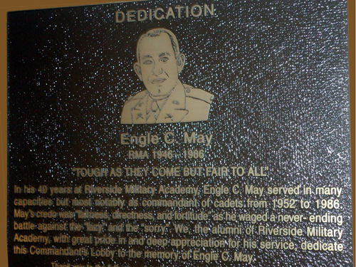 Engle C May Dedication