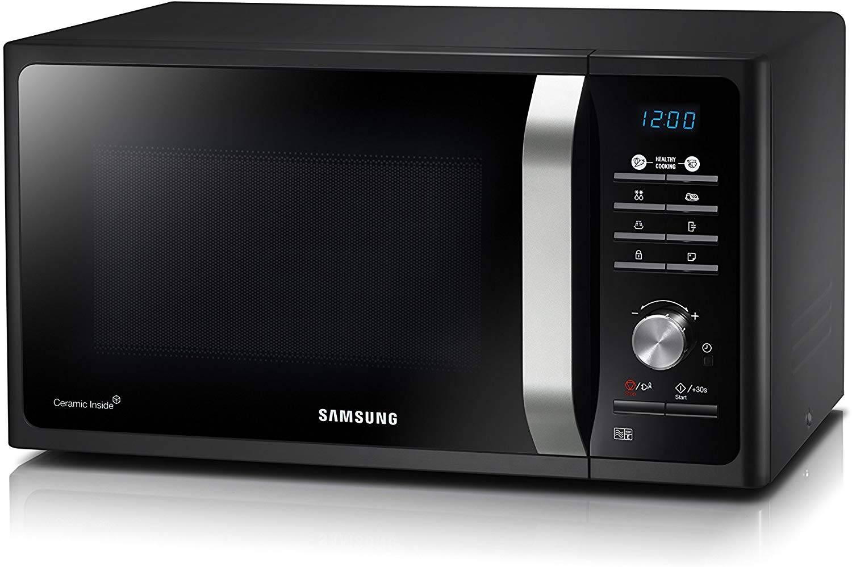 samsung solo ms23f301tak black microwave