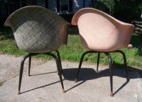 Super Swank Pair of 1950s Fiberglas Arm Chairs by Douglas ...