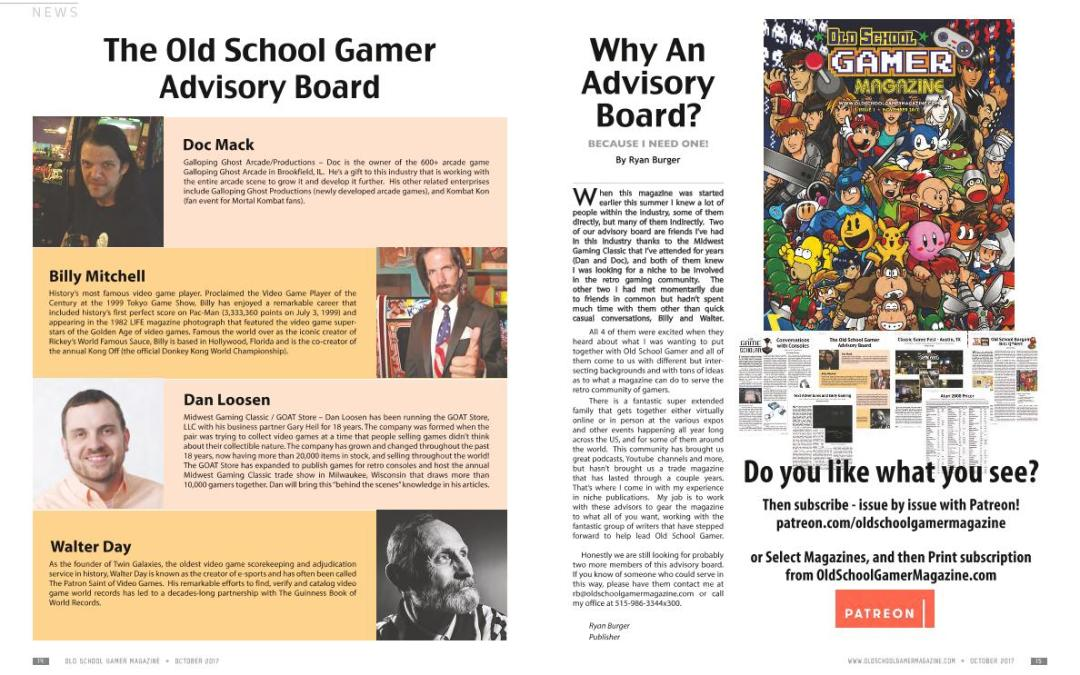 Why An Advisory Board? by Ryan Burger