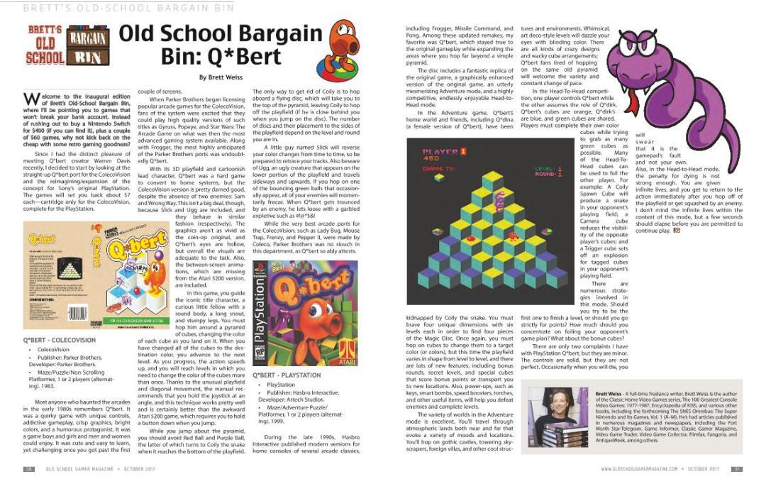 Brett's Old School Bargain Bin – Q*Bert