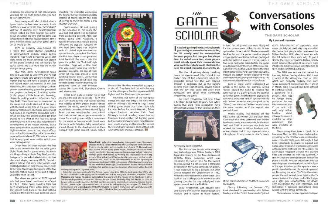 The Game Scholar: Conversations with Consoles