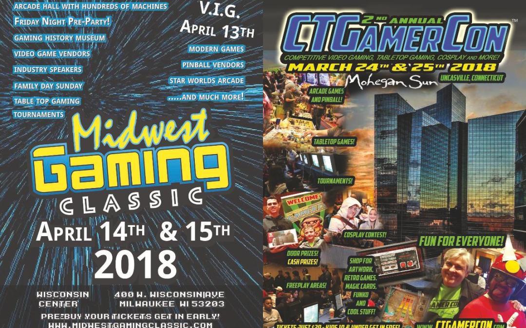 Upcoming Gaming Events 2018