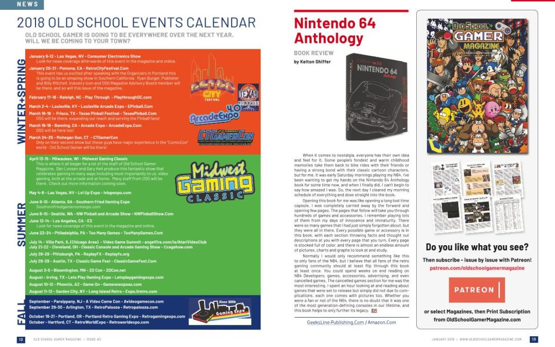Nintendo 64 Anthology Book Review – By Kelton Shiffer
