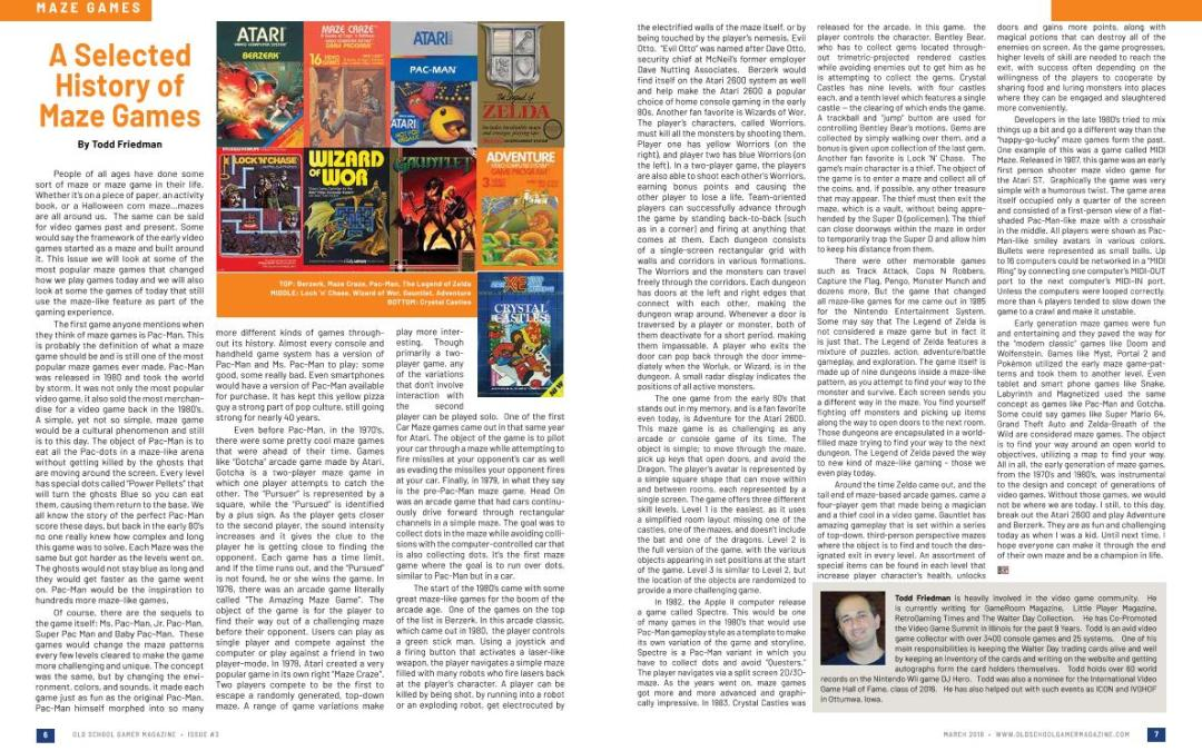 A SelectedHistory ofMaze Games –By Todd Friedman