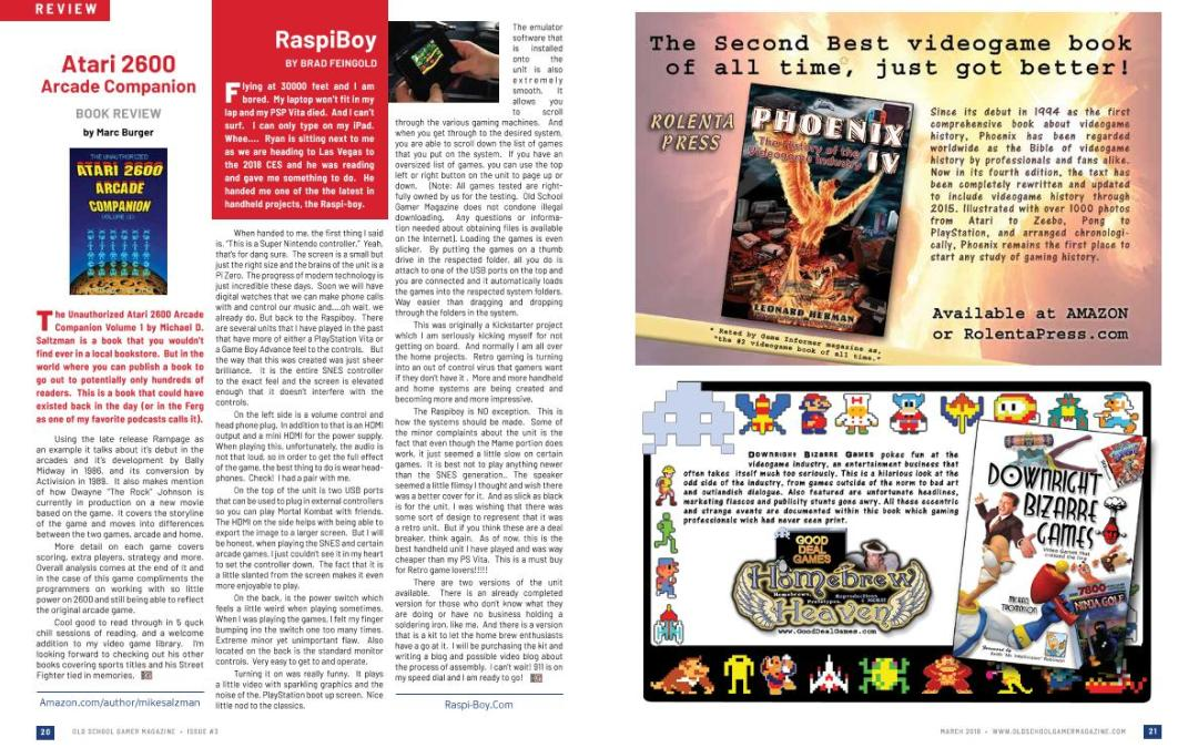 Book and Game Review: Atari 2600 Arcade Companion – By Marc Burger & RaspiBoy – By Brad Feingold