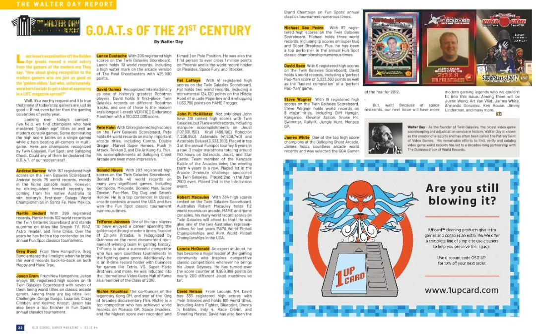 The Walter Day Report: G.O.A.T.s of the 21st Century – By Walter Day