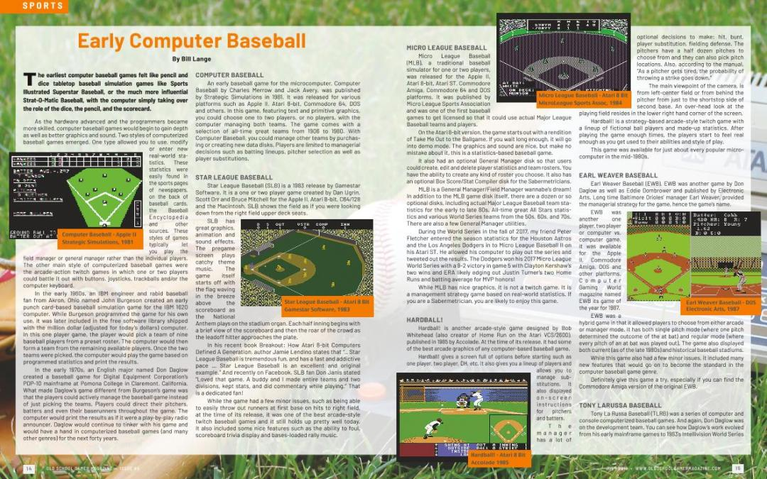 Early Computer Baseball – By Bill Lange