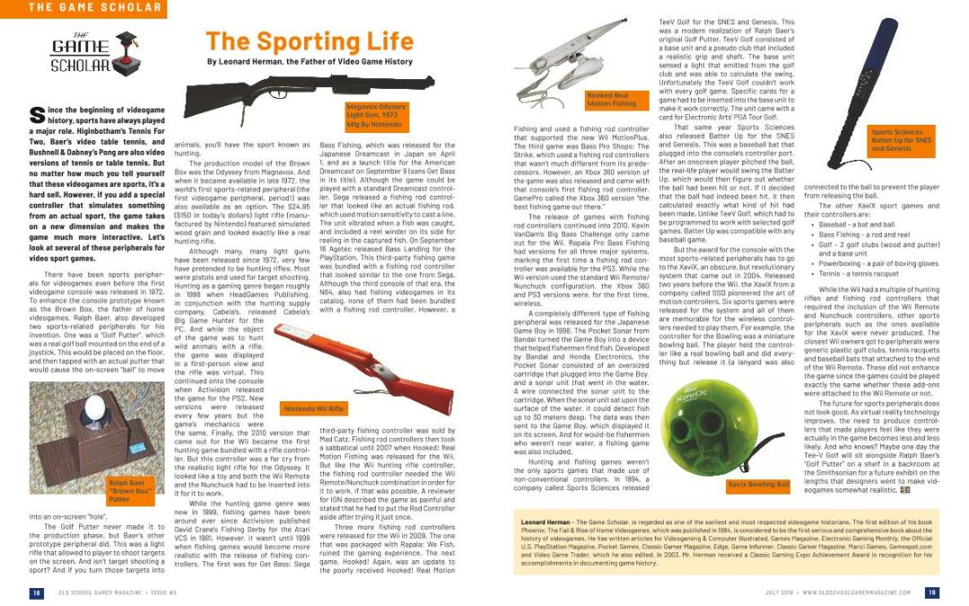 The Sporting Life – By Leonard Herman, the Father of Video Game History