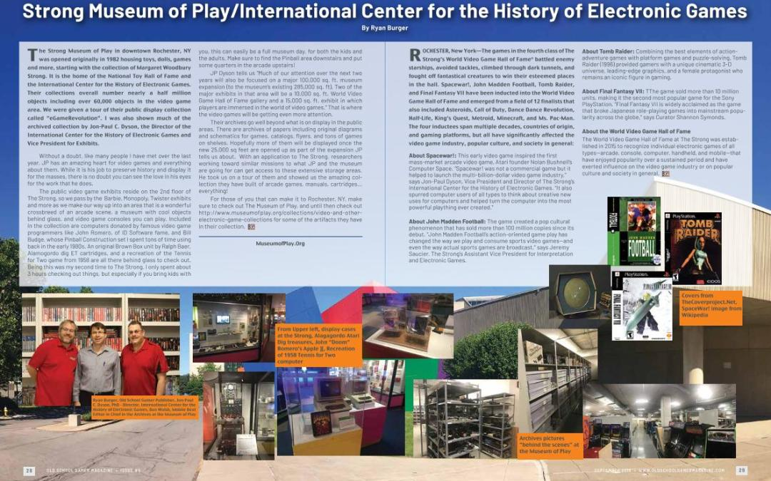 Strong Museum of Play/International Center Center for the History of Electronic Games – By Ryan Burger